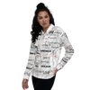 All Over Print - Unisex White Bomber Jacket