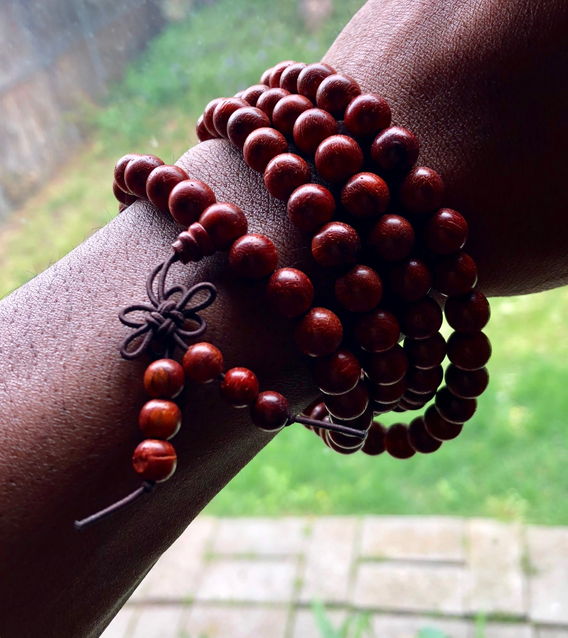 Red Sandalwood 108 Mala Necklace/Bracelet