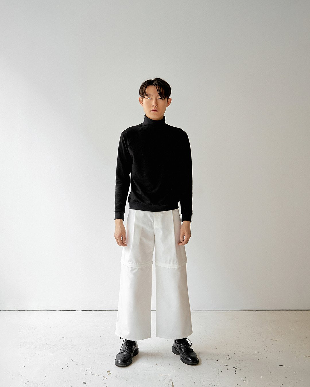 White ripstop convertible pants