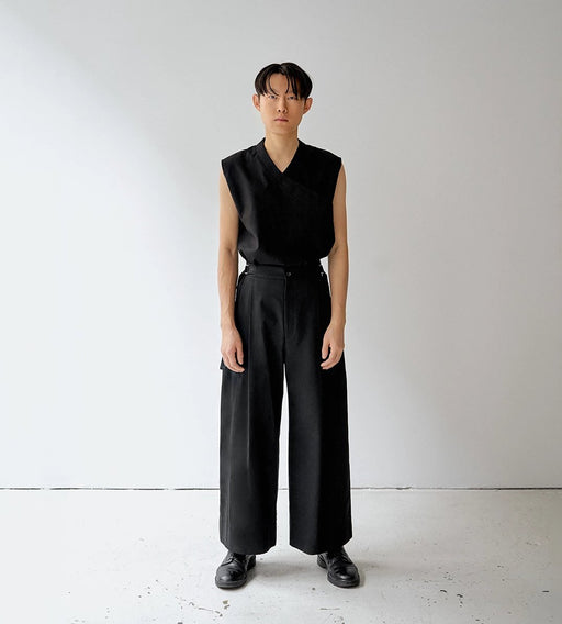 PANTS BLACK TROUSERS DARIO unisex genderless clothing montreal veri