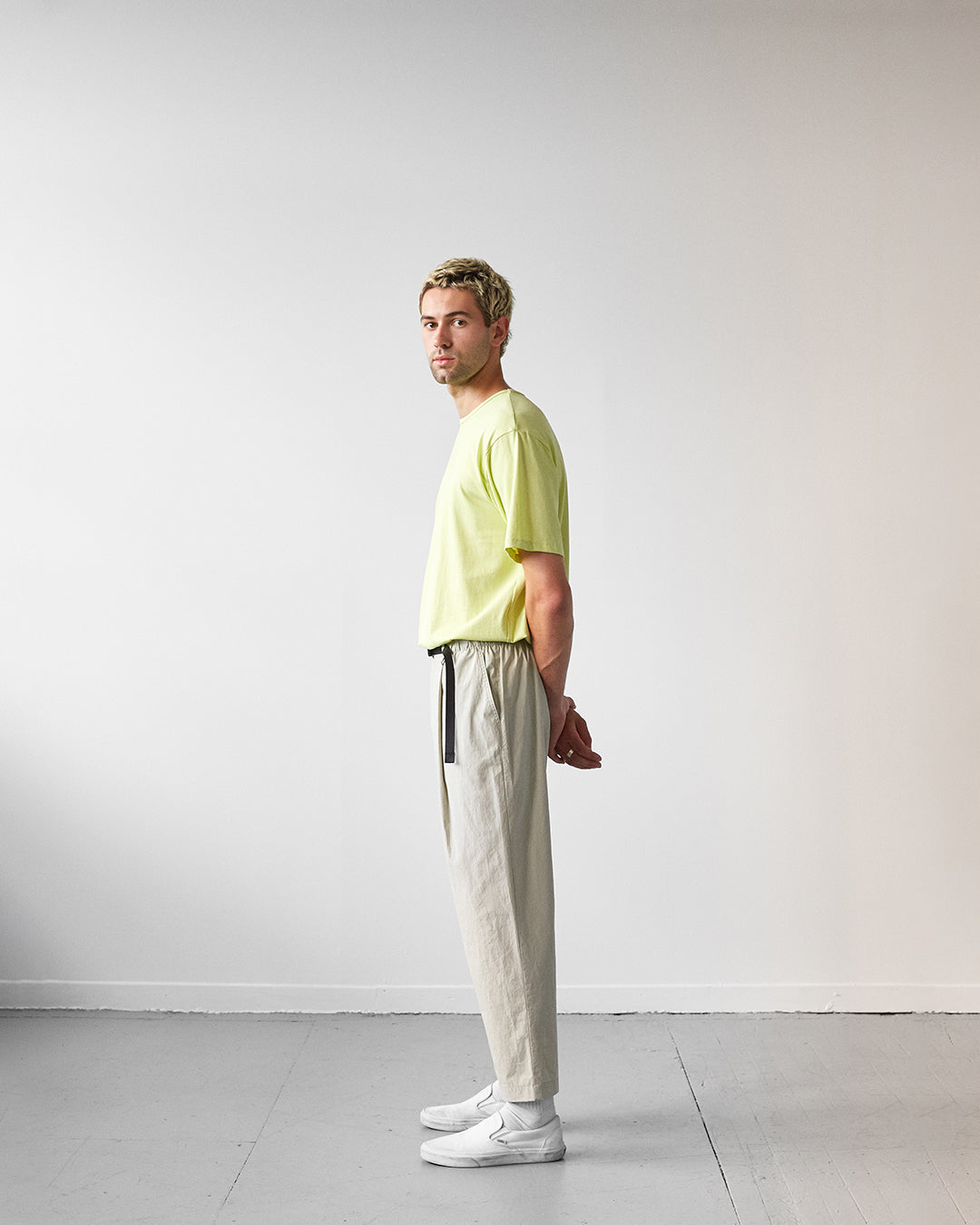 pants elastic green sage unisex genderless sunset veri montreal clothing