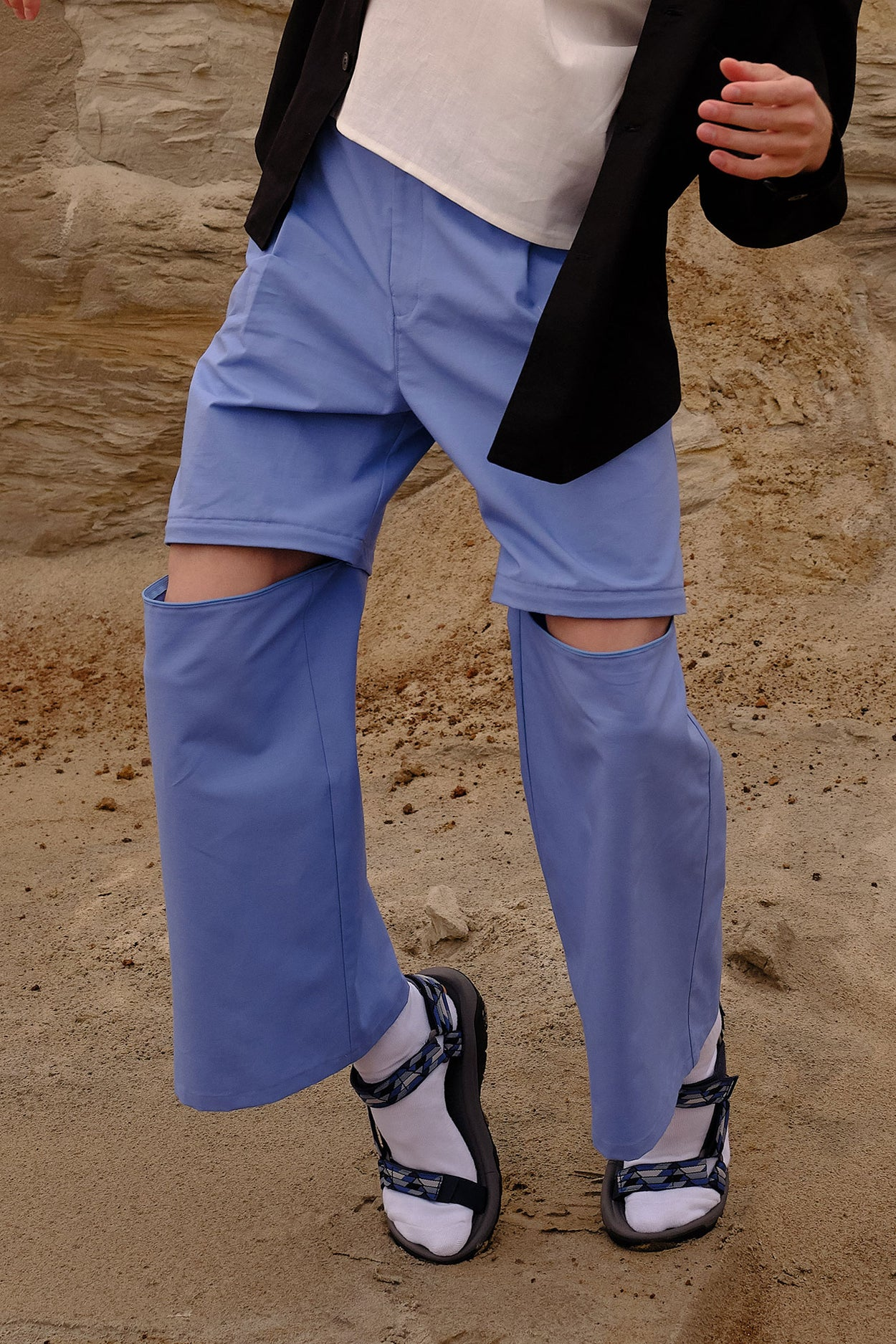 Blue ripstop convertible pants