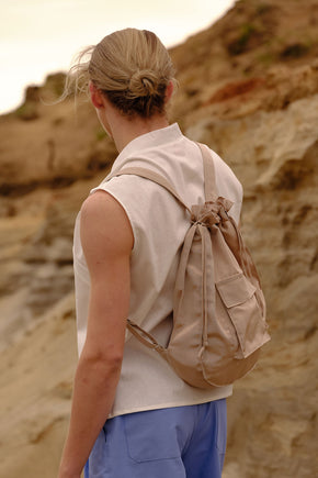 Sand moire backpack