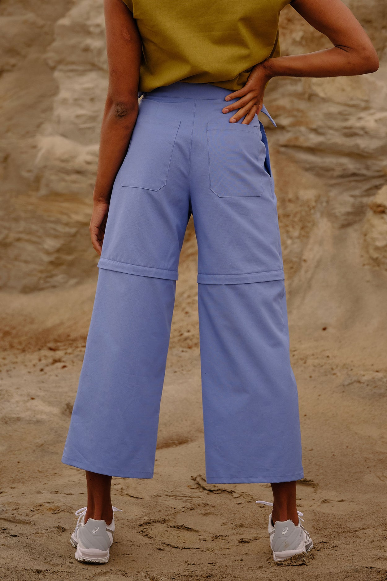 Pants Blue ripstop convertible unisex genderless clothing montreal veri