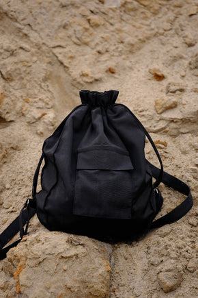 Black moire backpack