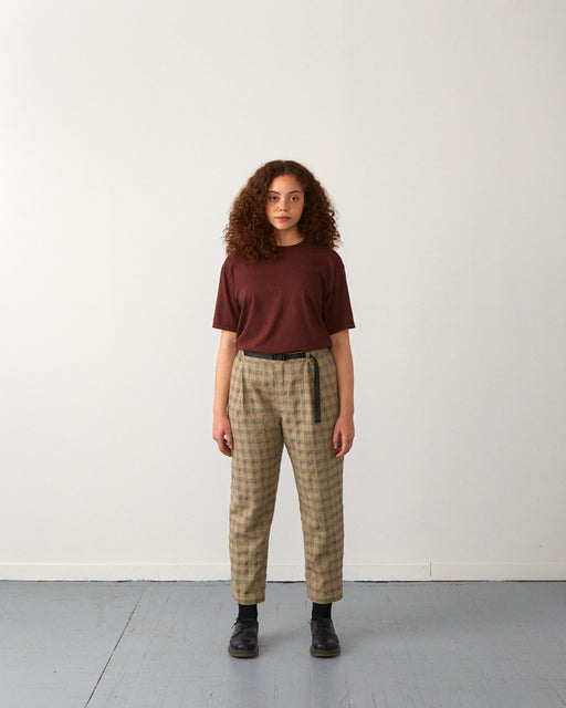 pants plaid unisex sunset veri montreal