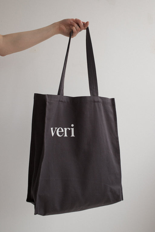 tote bag  DARK grey unisex veri montreal
