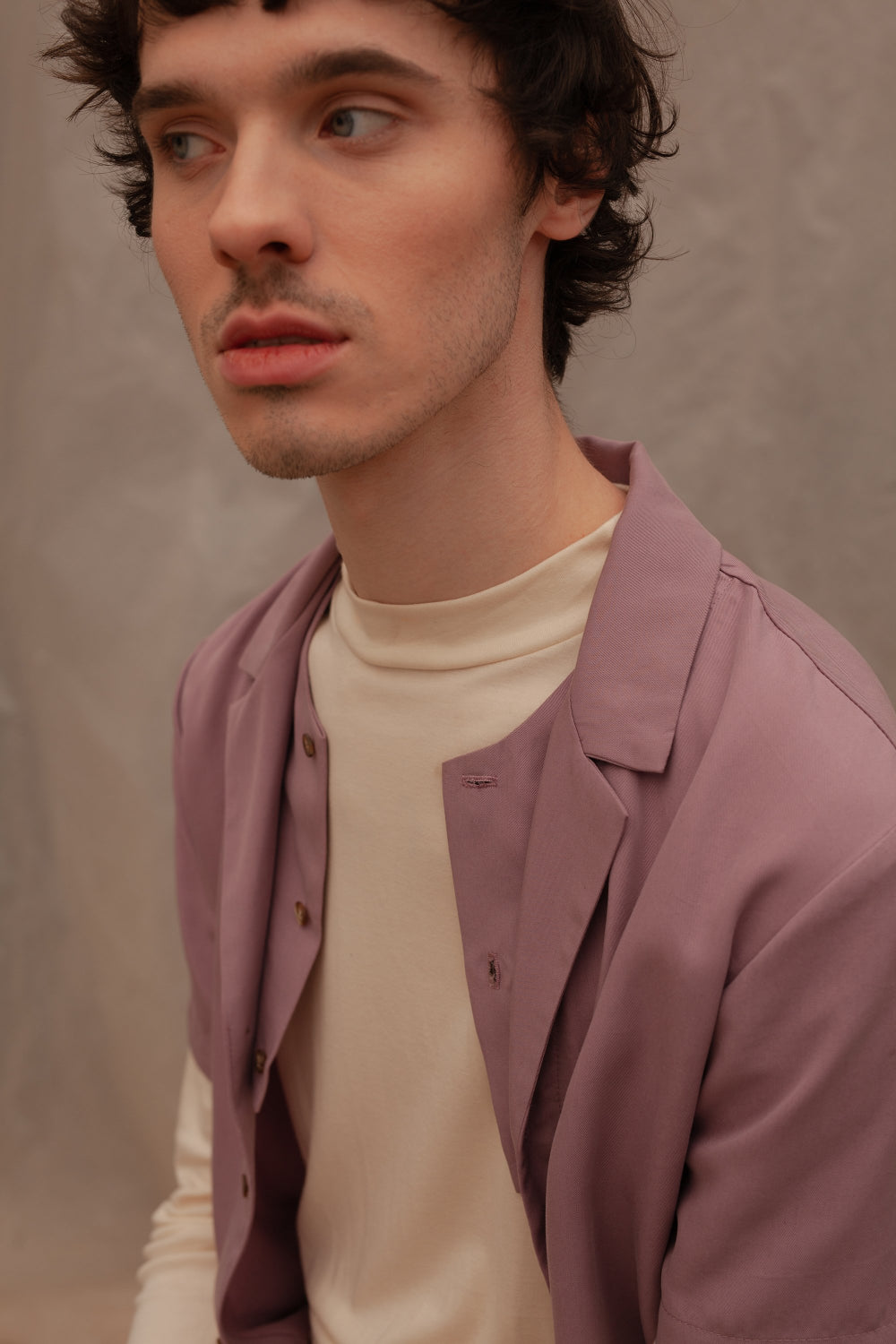 Eve mauve shirt genderless clothing montreal veri