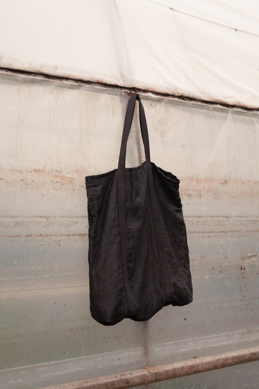 Tote bag black big unisex genderless clothing montreal veri