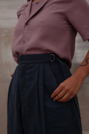 Milo Navy pants genderless clothing montreal veri