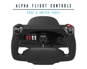 Alpha Flight Controls Yoke and Switch Panel by Honeycomb Aeronautical