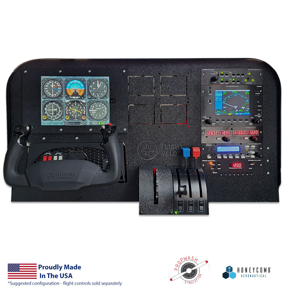 FV10HP - RealStack 530 Cockpit Panel with Propwash Sim and Honeycomb Support