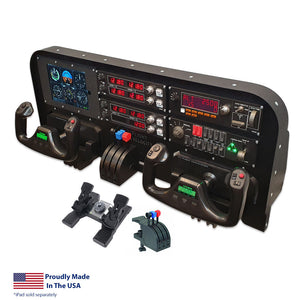 FV3D - Dual Yoke Mid Profile Flight Simulator Kit