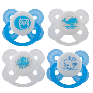 Avima Baby Pacifiers — 0-6 Months (Set of 4), Blue