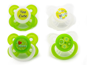 Avima Baby Pacifiers — 0-6 Months (Set of 4), Green