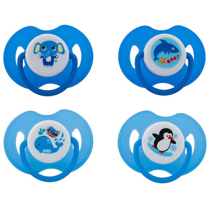 Avima Baby Pacifiers — 6-12 Months (Set of 4), Blue