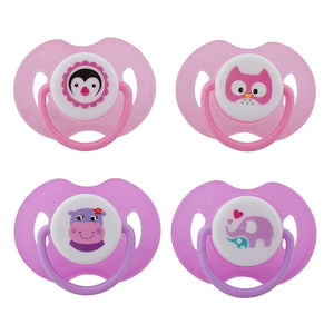 Avima Baby Pacifiers — 6-12 Months (Set of 4), Pink