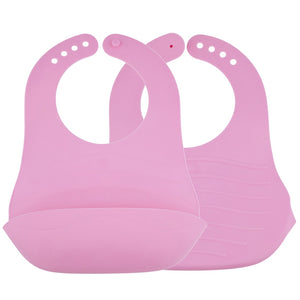 Avima Baby Fold and Go Bibs -  Pink (Set of 2)