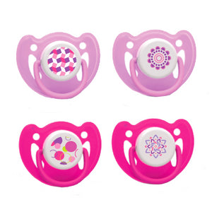 Avima Baby Pacifiers — 12+ Months (Set of 4), Pink