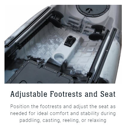 adjustable footrests and seat