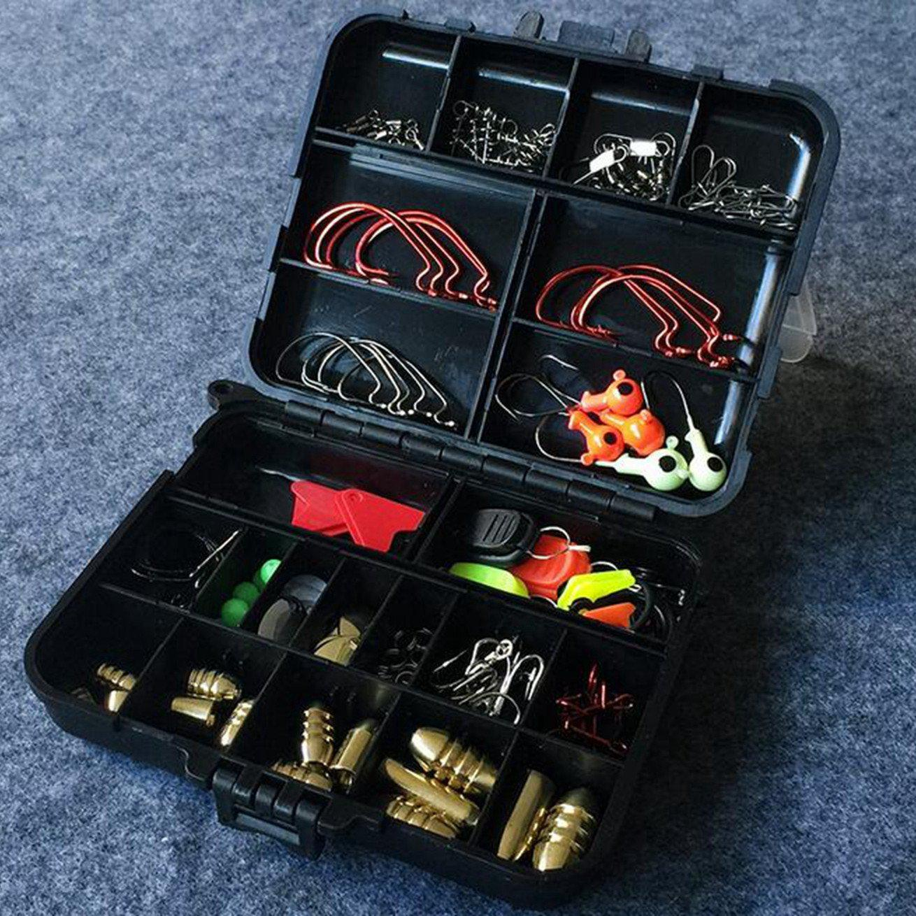 128Pc Tacklebox - Hard/Soft/Bait/Lure hook - Salt/Freshwater