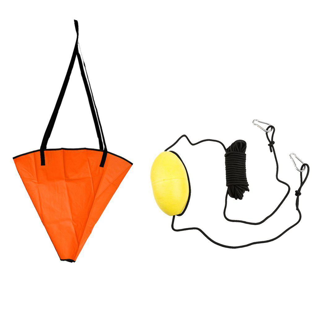 18' Sea Anchor + 30ft PVC Drift Anchor Tow Rope-Kayak Shops