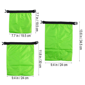 3pcs 1.5L+2.5L+3.5L Waterproof Dry Bag - kayakshops