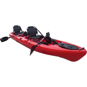 BKC PK14 foot Sit On Top Tandem Fishing Pedal Kayak - kayakshops