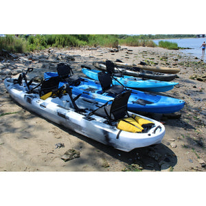 BKC 14 foot Sit On Top Tandem Fishing Pedal Kayak-Kayak Shops