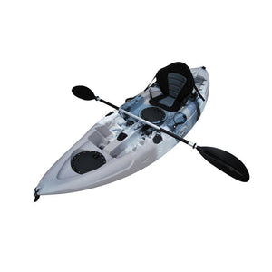 white and blue BKC UH-FK184 9 Foot Sit on Top Single Fishing Kayak - kayakshops