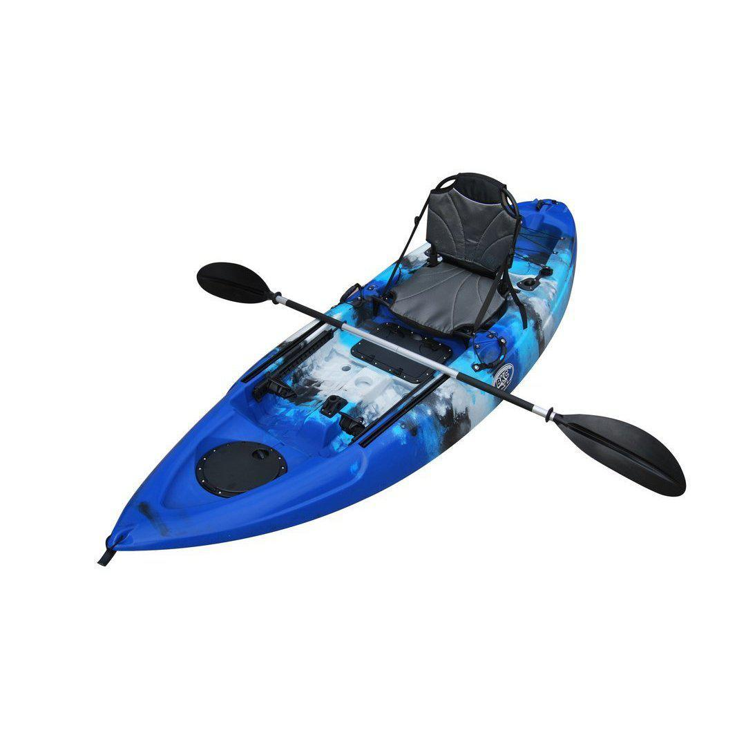 BKC UH-FK285 9-Foot 5-inch Sit on Top Single Fishing Kayak-Kayak Shops