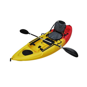 yellow and orange BKC UH-FK285 9-Foot 5-inch Sit on Top Single Fishing Kayak - kayakshops