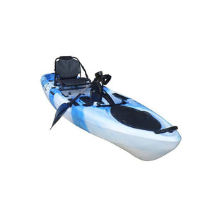 light blue BKC UH-PK11 Pedal Drive Solo Rover 10-Foot 6-Inch Pedal Fishing Kayak
