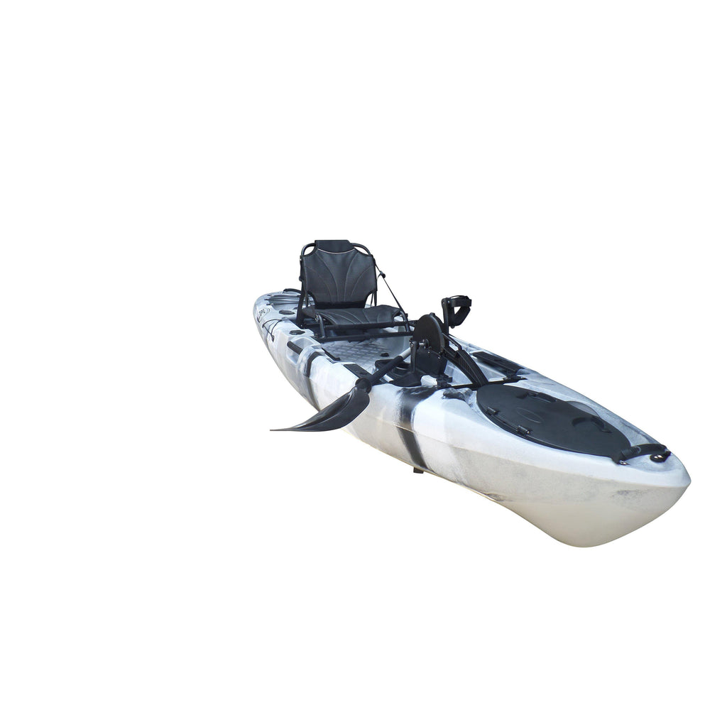 Paddle BKC PK13 13 Pedal Drive Fishing Kayak W//Rudder System and Instant Reverse 1 Person Foot Operated Kayak Upright Back Support Aluminum Frame Seat