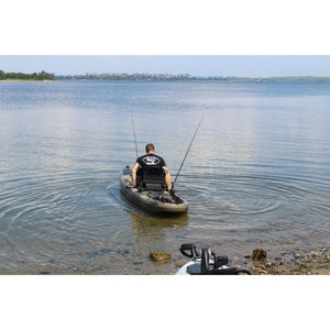 on the water BKC UH-PK13 Pedal Fishing Kayak Solo Traveler 13 Foot, With Pedal Drive, Rudder System, Paddle And Seat