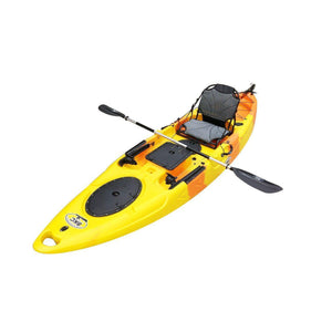 Sit On Top Fishing Kayak yellow orange