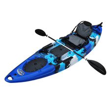 Sit On Top Fishing Kayak blue camo