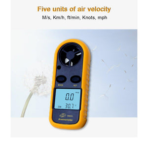 Digital Anemometer Wind Speed Gauge Meter units