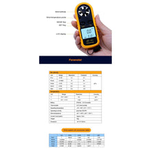 Digital Anemometer Wind Speed Gauge Meter specs