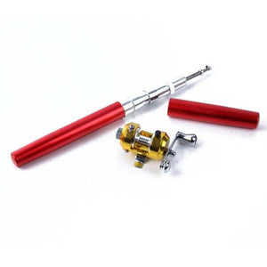 Pocket Telescopic Fishing Pole red