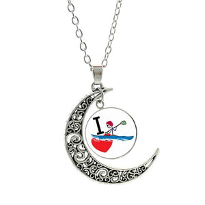 Vintage Summer Love Kayaking Chain Necklace - kayakshops