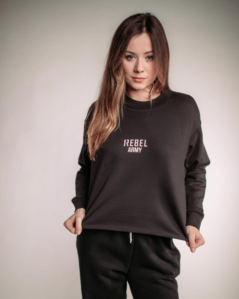 1Rebel Army Cropped Jumper, womens