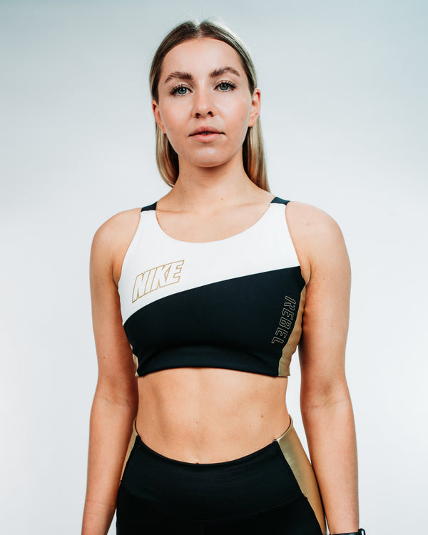 Nike Swoosh Women's Medium-Support Metallic Sports Bra // 1REBEL