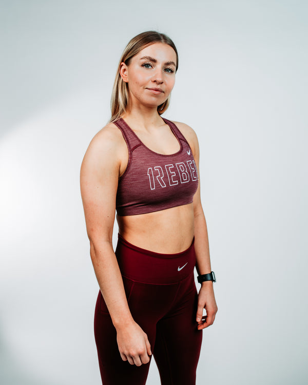 Nike // 1REBEL Swoosh Women's Medium-Support Non-Padded Sports Bra