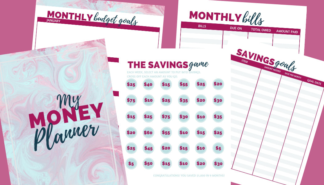 Budget Planning Pack - Watercolor Design