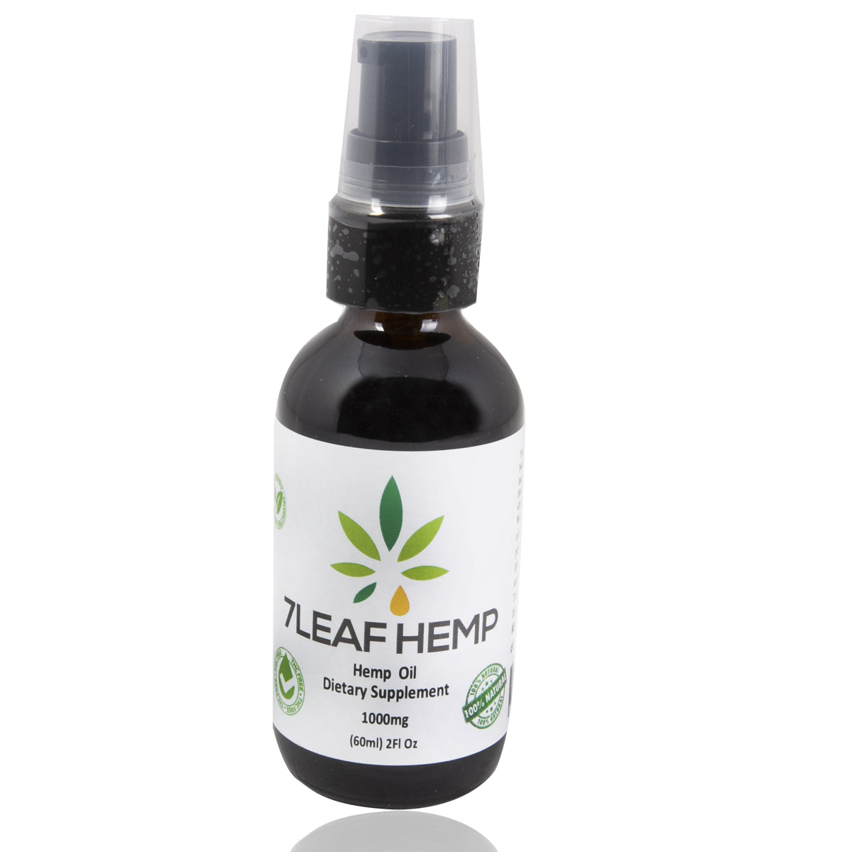 7 Leaf 1000mg CBD All Natural Oil High Potency Hemp CBD