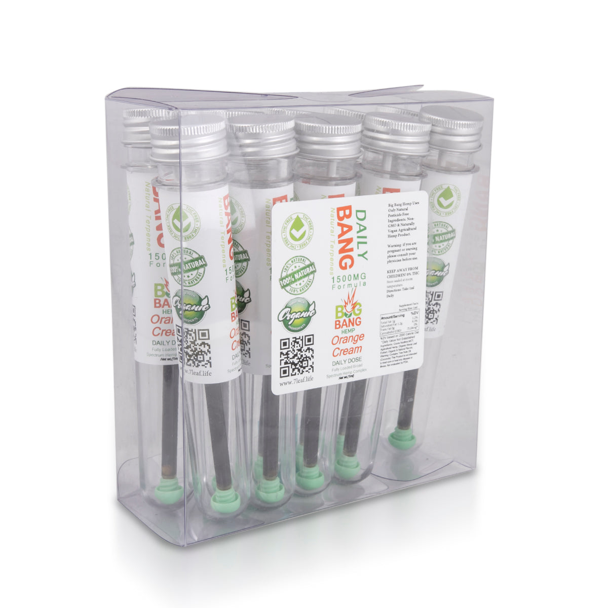 Daily Bang CBD 1500mg CBD Orange Cream Syringe - Big Bang Hemp CBD ...