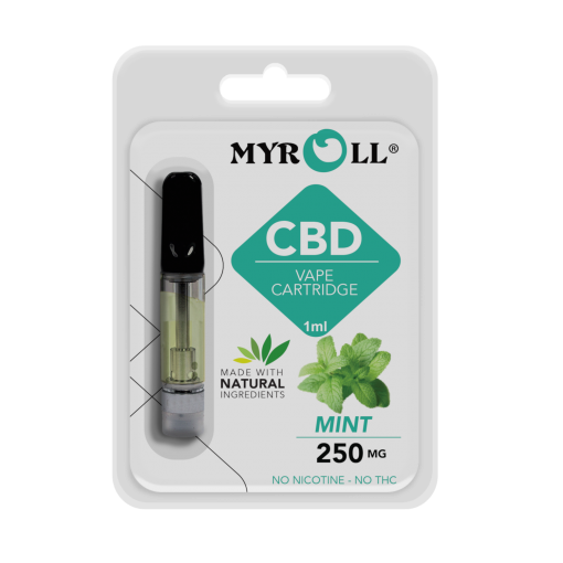 My Roll Flavored CBD Cartridges - 250mg CBD Vape - Mint