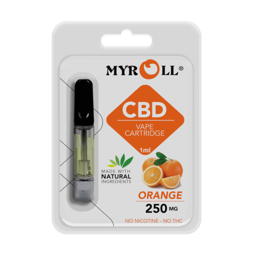My Roll Flavored CBD Cartridges - 250mg CBD Vape - Orange