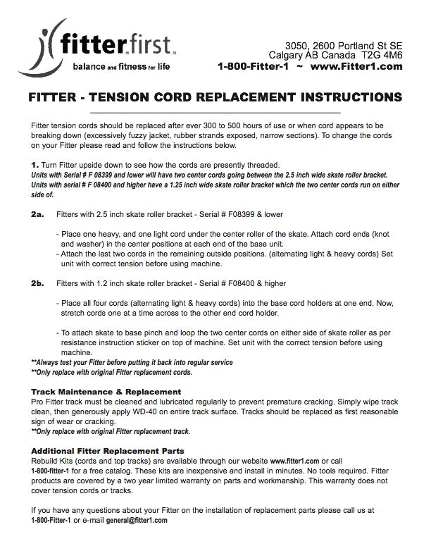 Rebuild Kit for Pro Fitter - USA Fitterfirst